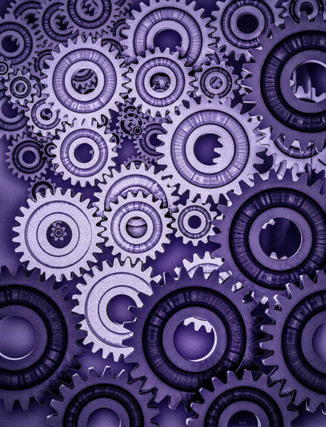 Photograph - Ultraviolet Gears by Bob Orsillo