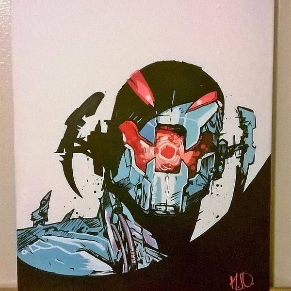Ant Man Painting - Ultron by Nicholas Osorio