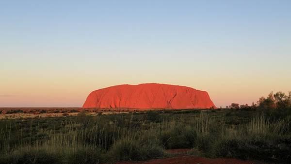 Uluru At Sunset Art Print