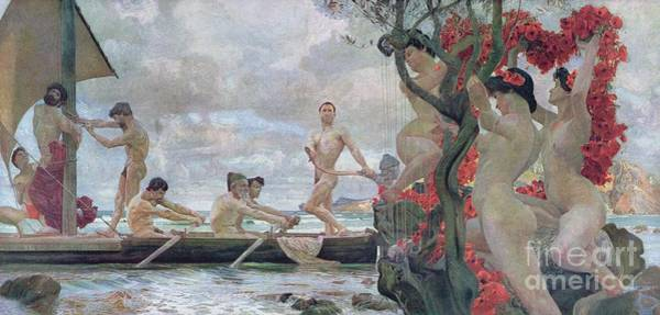 Wall Art - Painting - Ulysses And The Sirens by Otto Greiner