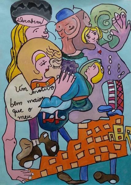 Painting - Um Motivo Bem Maior Que O Meu by Darabem Artist