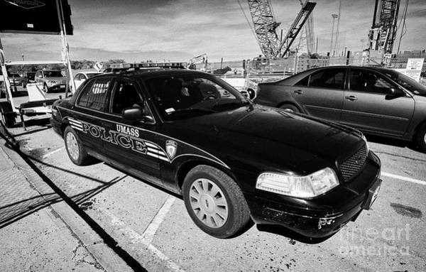 Wall Art - Photograph - umass university campus police patrol vehicle Boston USA by Joe Fox