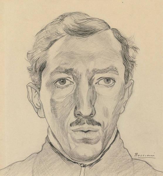 20th Century Man Drawing - Umberto Boccioni by Umberto Boccioni