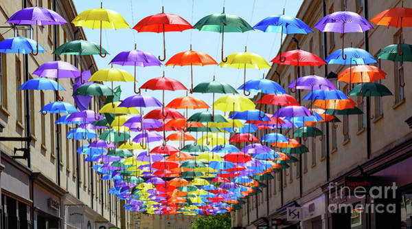 Photograph - Umbrella Art In Bath by Colin Rayner