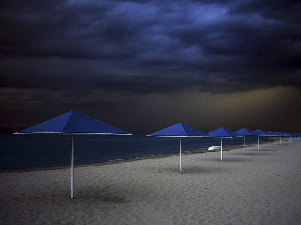 Cloudy Photograph - Umbrella Blues by Aydin Aksoy