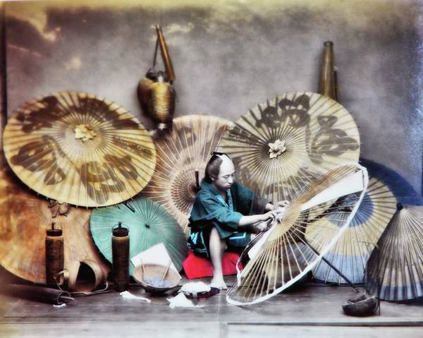 Photograph - Umbrella Maker by John Feiser