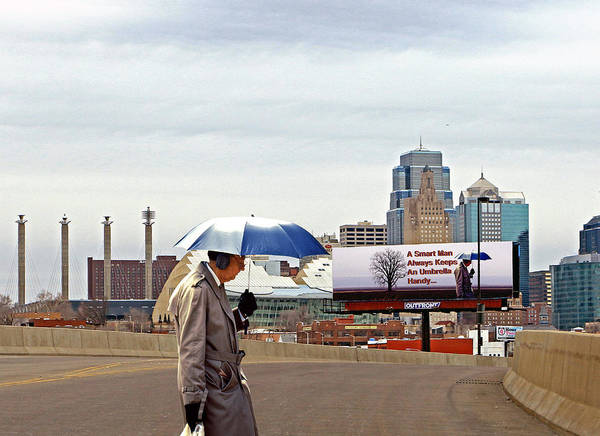 Ear Muffs Photograph - Umbrella Man And...hey by Christopher McKenzie