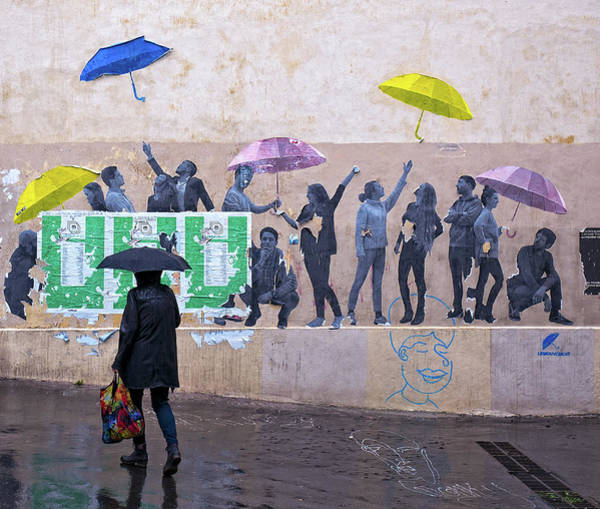 Photograph - Umbrellas In Paris by Gary Karlsen