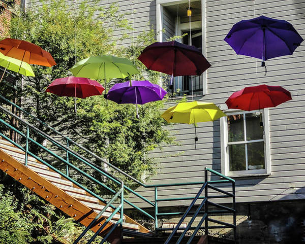 Wall Art - Photograph - Umbrellas by Linda Eszenyi