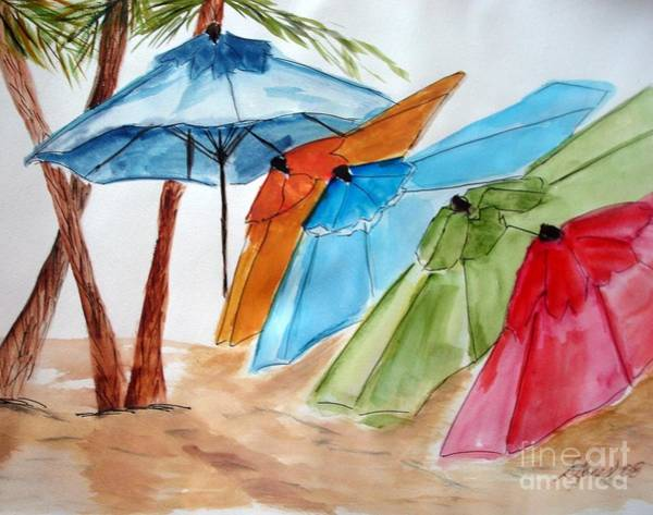 Painting - Umbrellas by Shelley Jones