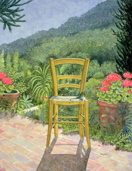 Lizard Painting - Umbrian Chair by Ditz
