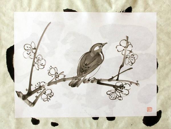Ume Uguisu Art Print