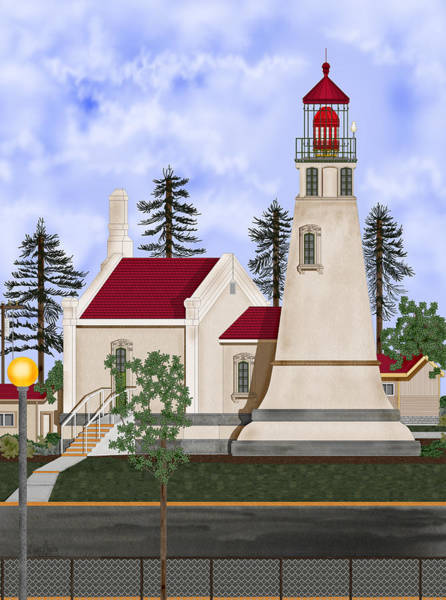 Wall Art - Painting - Umpqua River Lighthouse July 2010 by Anne Norskog