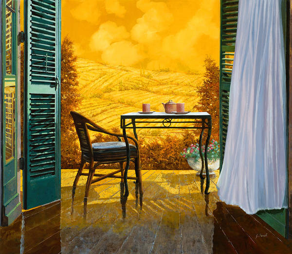 Tuscany Landscape Wall Art - Painting - Un Caldo Pomeriggio D'estate by Guido Borelli