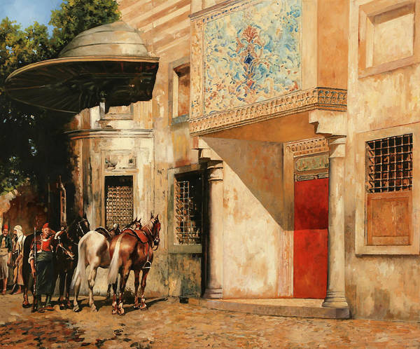 Master Wall Art - Painting - Tre Cavalli by Guido Borelli