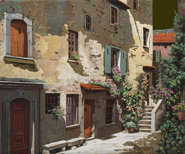 Village Painting - Un Cielo Improbabile by Guido Borelli