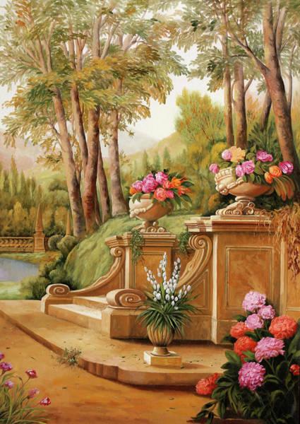 Stairs Painting - Un Giardino by Guido Borelli