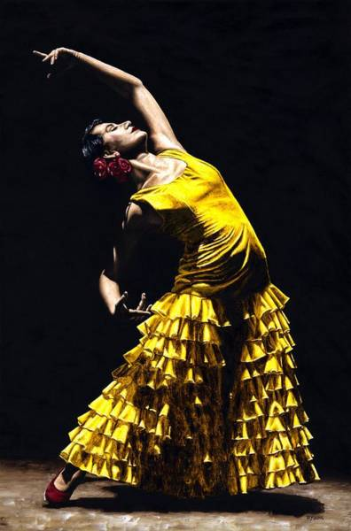 Posing Painting - Un Momento Intenso Del Flamenco by Richard Young