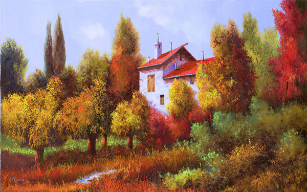 Wall Art - Painting - Una Casa E Mezza Nel Bosco by Guido Borelli