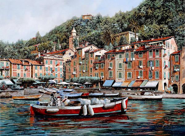 Wall Art - Painting - Una Lunga Barca Rossa by Guido Borelli