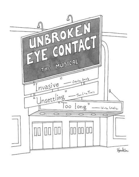 Unbroken Eye Contact The Musical Art Print