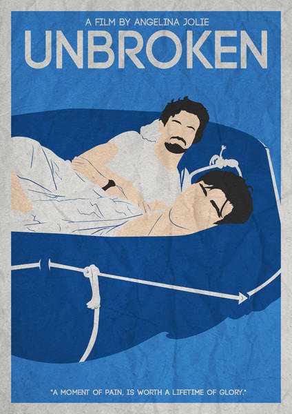 Painting - Unbroken Minimalist Movie Poster by Celestial Images
