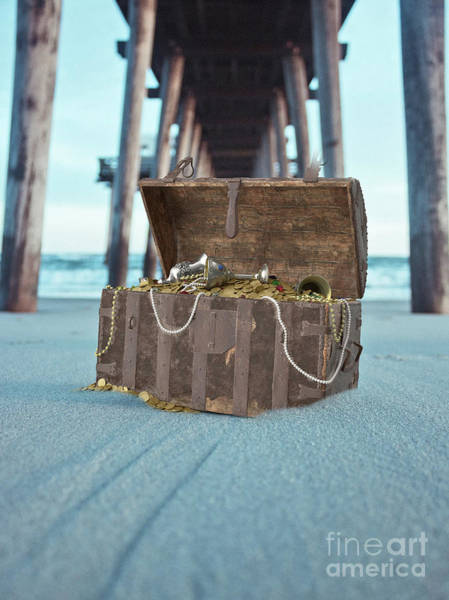 Wall Art - Photograph - Unburied Pirate Treasure Surreal by Edward Fielding