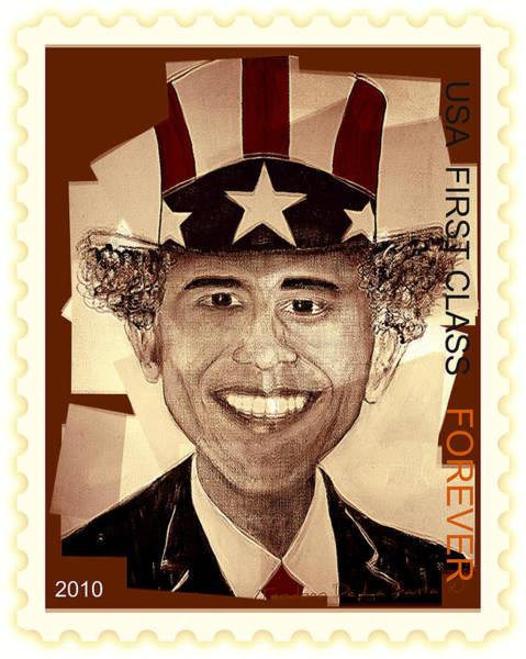 Digital Art - Uncle Bam  Postage Stamp by Teodoro De La Santa