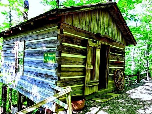 Painting - Uncle John's Cabin by Wesley Nesbitt