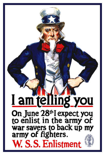 Wpa Painting - Uncle Sam -- I Am Telling You by War Is Hell Store