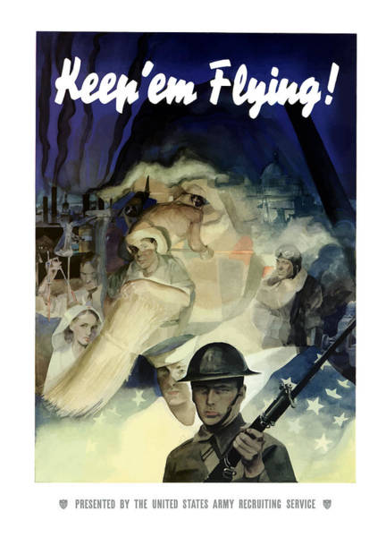 Uncle Painting - Keep 'em Flying - Uncle Sam  by War Is Hell Store