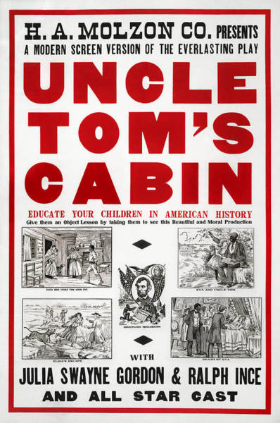 Wall Art - Mixed Media - Uncle Tom's Cabin - Film Adaptation Promotion Poster by War Is Hell Store