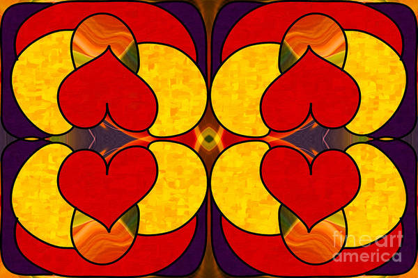 Digital Art - Unconditional Love Abstract Art By Omashte by Omaste Witkowski