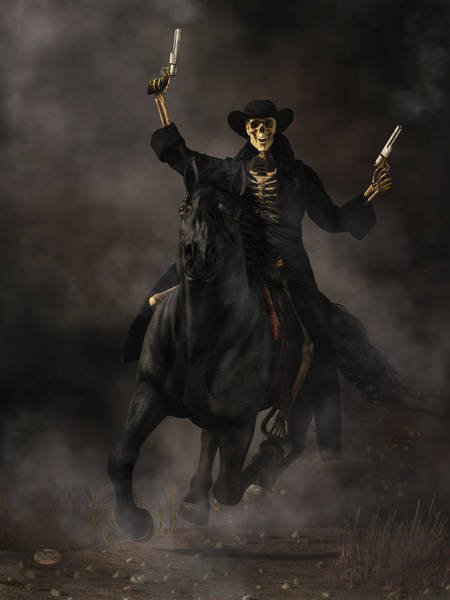 Digital Art - Undead Outlaw by Daniel Eskridge