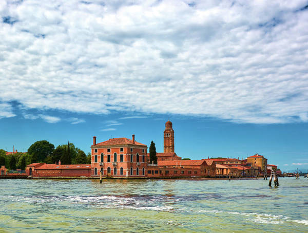 Photograph - Seascape On The Way From Venice To Burano, Italy by Fine Art Photography Prints By Eduardo Accorinti