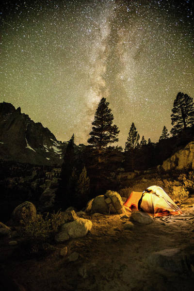 Big Pine Wall Art - Photograph - Under A Night Sky by Dan Holmes