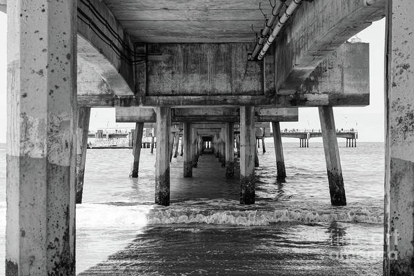 Wall Art - Photograph - Under Belmont Veterans Memorial Pier by Ana V Ramirez