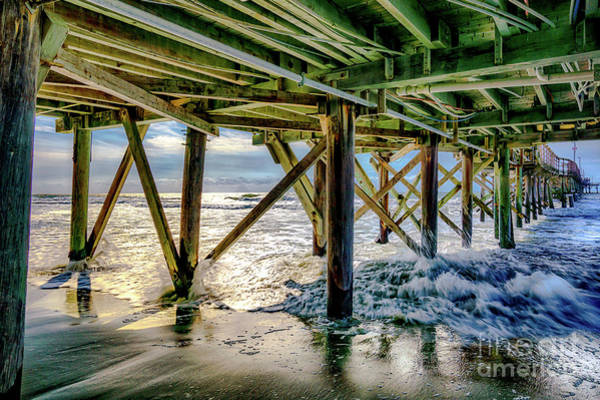 Photograph - Under Cherry Grove Pier  by David Smith