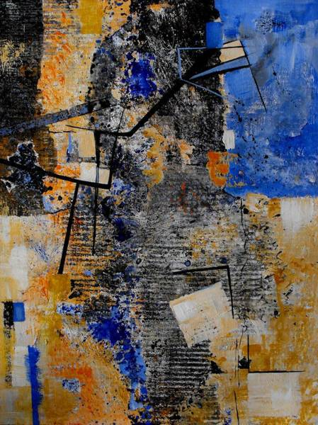 Irregular Painting - Under Construction by Ruth Palmer