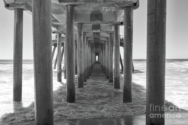 Wall Art - Photograph - Under Huntington Beach Pier by Ana V Ramirez