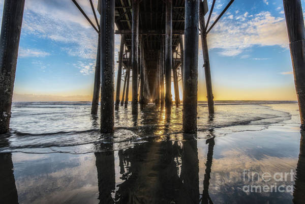 Photograph - Under Oceanside Pier During Low Tide by David Levin