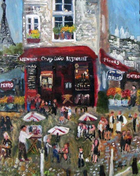 Painting - Under Paris Skies by Michael Helfen
