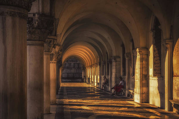 Basilica Photograph - Under Saint Mark's Basilica by Chris Fletcher