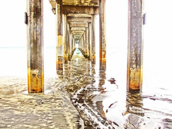 Wall Art - Photograph - Under Scripps Pier by Ruth Jolly