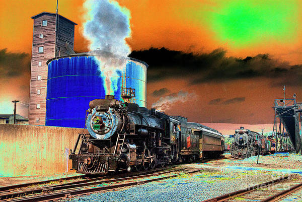 Solarized Photograph - Under Steam - Se by Paul W Faust -  Impressions of Light