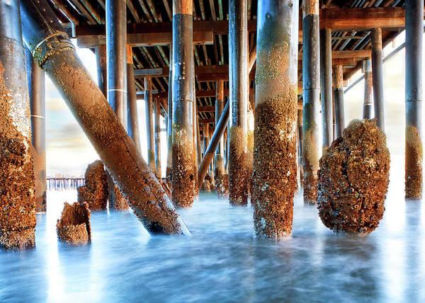 Wall Art - Photograph - Under Stearn's Wharf In Santa Barbara California by Susan Schmitz