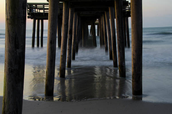 Under The Pier Photograph - Under The 32nd Street Pier Avalon New Jersey by Bill Cannon