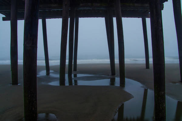 Under The Pier Photograph - Under The Boardwalk - 43nd Street Pier Avalon New Jersey by Bill Cannon