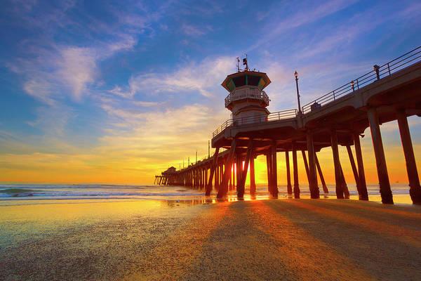 Huntington Beach Pier Photograph - Under The Boardwalk by Brian Knott Photography