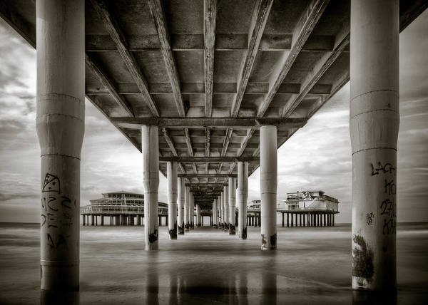 Underneath Photograph - Under The Boardwalk by Dave Bowman